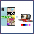 LG K42 64GB + Treppiede per Smartphone Squiddy Celly